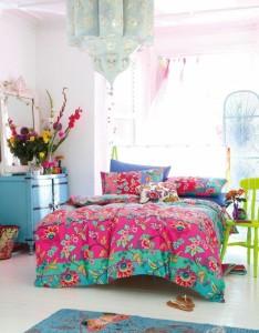 Chambre colorée au style bohème