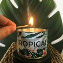 Bougie parfumée Maona motif tropical
