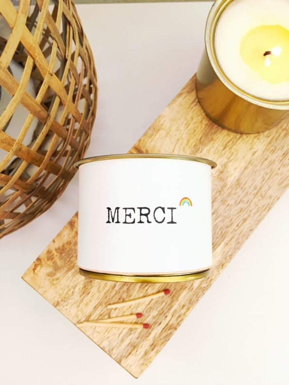 bougie parfumée MERCI1