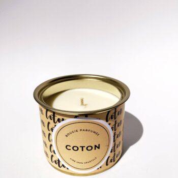 bougie intemporelle coton