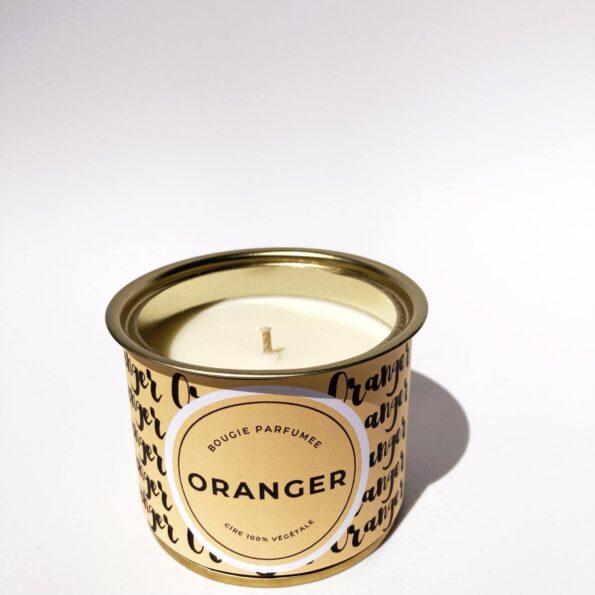 bougie intemporelle oranger